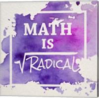 Math Is Radical Watercolor Splash Purple Fine-Art Print