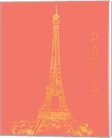 Paris on Coral Fine-Art Print