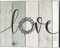 Love Rustic Wreath II Fine-Art Print