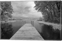 Dock at St. Joseph River, Centreville, Michigan '13-IR Fine-Art Print