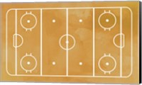 Ice Hockey Rink Yellow Paint Fine-Art Print