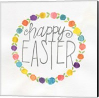 Happy Easter Wreath Fine-Art Print