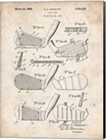 Golf Club Patent - Vintage Parchment Fine-Art Print