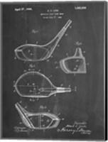 Metallic Golf Club Head Patent - Chalkboard Fine-Art Print