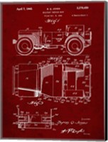 Military Vehicle Body Patent - Burgundy Fine-Art Print