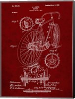 Bicycle Patent - Burgundy Fine-Art Print