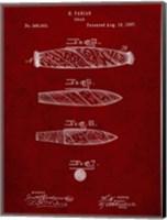 Cigar Patent - Burgundy Fine-Art Print