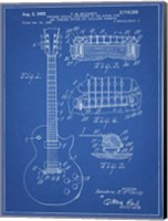 Guitar & Combined Bridge & Tailpiece Therefor Patent - Blueprint Fine-Art Print