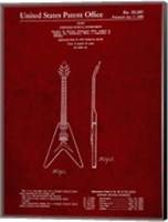 Stringed Musical Instrument Patent - Burgundy Fine-Art Print