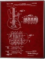 Electric Guitar Patent - Burgundy Fine-Art Print