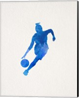 Basketball Girl Watercolor Silhouette Part II Fine-Art Print