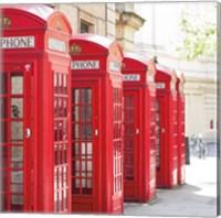 Covent Garden Phone Boxes Fine-Art Print