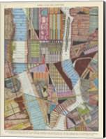 Modern Map of New York II Fine-Art Print