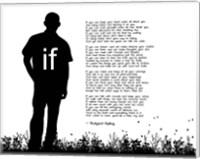 If by Rudyard Kipling - Man Silhouette White Fine-Art Print