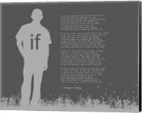 If by Rudyard Kipling - Man Silhouette Gray Fine-Art Print