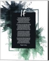 If by Rudyard Kipling - Powder Explosion Green Fine-Art Print