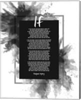 If by Rudyard Kipling - Powder Explosion Gray Fine-Art Print