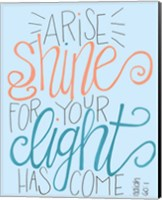 Arise and Shine - Aqua Fine-Art Print