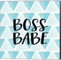Boss Babe - Aqua Fine-Art Print