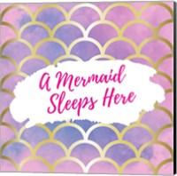 A Mermaid Sleeps Here Fine-Art Print