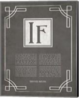 If by Rudyard Kipling - Ornamental Border Gray Fine-Art Print