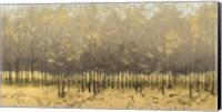 Golden Trees III Taupe Fine-Art Print