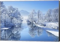 Winter landscape at Loisach, Germany Fine-Art Print