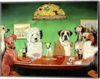 Dogs Playing Poker Fine-Art Print