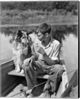 1930s Boy And Collie Dog Fine-Art Print