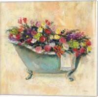 Bathtub Bouquet I Fine-Art Print