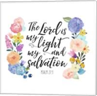 Floral Bible Verse II Fine-Art Print