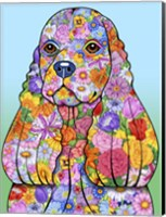 Flowers Cocker Spaniel Fine-Art Print