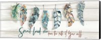 Tribal Feathers Sign Fine-Art Print