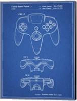 Blueprint Nintendo 64 Controller Patent Fine-Art Print