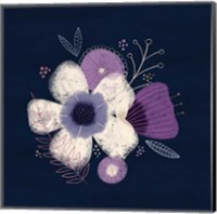 Cream Florals on Navy I Fine-Art Print