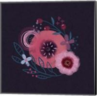 Dark Purple Florals II Fine-Art Print