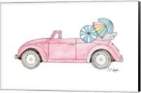 Pink Car with Umbrellas Fine-Art Print