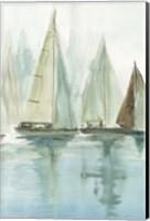 Blue Sailboats II Fine-Art Print