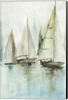 Blue Sailboats III Fine-Art Print