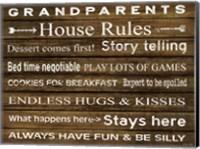 Grandparents House Rules Fine-Art Print