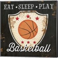 Eat, Sleep, Play, Basketball Fine-Art Print