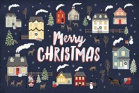 Christmas Village I Fine-Art Print
