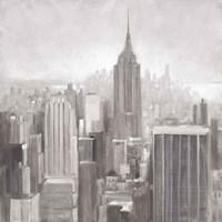 Manhattan in the Mist Gray Fine-Art Print