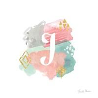Abstract Monogram J Fine-Art Print