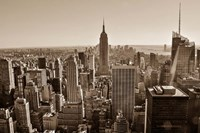 New York Sepia View Fine-Art Print