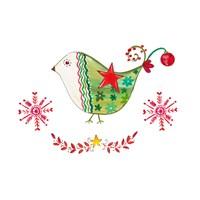 Christmas Dove I Fine-Art Print