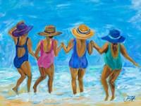 Ladies on the Beach I Fine-Art Print