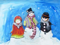 Snow Villagers Fine-Art Print