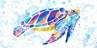 Vibrant Sea Turtle Fine-Art Print