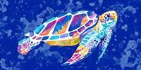 Vibrant Blue Sea Turtle Fine-Art Print
